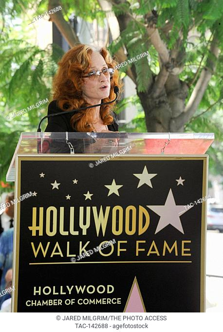 Bonnie Raitt attends the Hollywood Walk of Fame 2,558th star ceremony for music executive Joe Smith outside Capitol Records on August 27th, 2015 in Hollywood