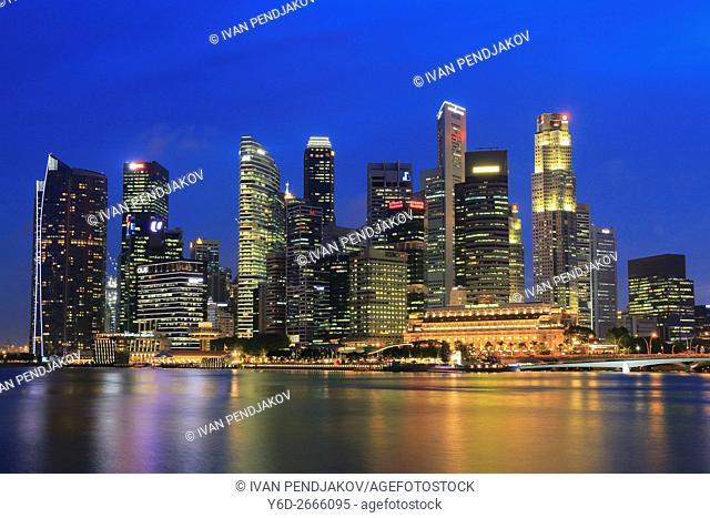 Central Business District at Dusk, Singapore