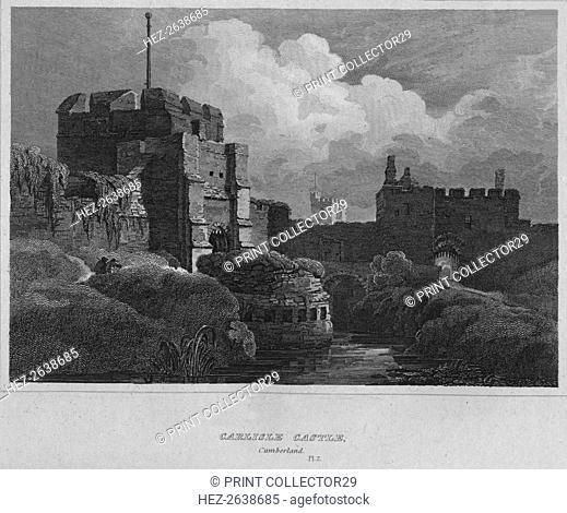 'Carlisle Castle, Cumberland', 1814. Artist: John Greig