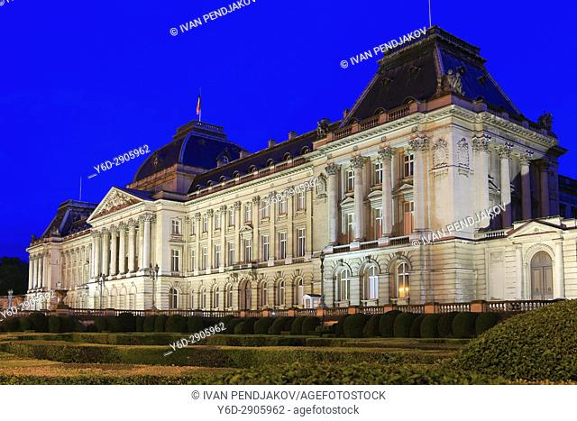 The Royal Palace at Dusk, Brussels, Belgium
