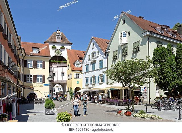 Unterstadttor, historic centre, Meersburg, Lake Constance, Baden-Württemberg, Germany