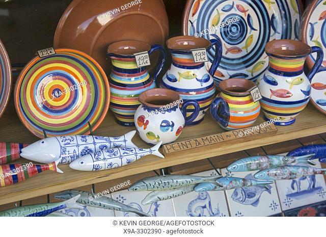 Pottery Jugs and Souvenirs, Loule; Algarve; Portugal