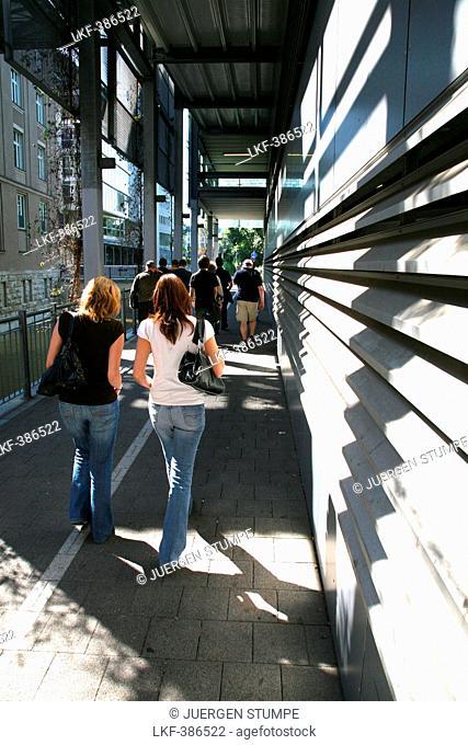 Pedestrians, City of Leipzig, Saxony, Germany, Europe