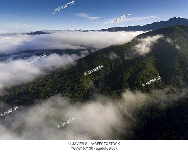 Mountains in the Pico das Pedras, Santana, Madeira, Portugal