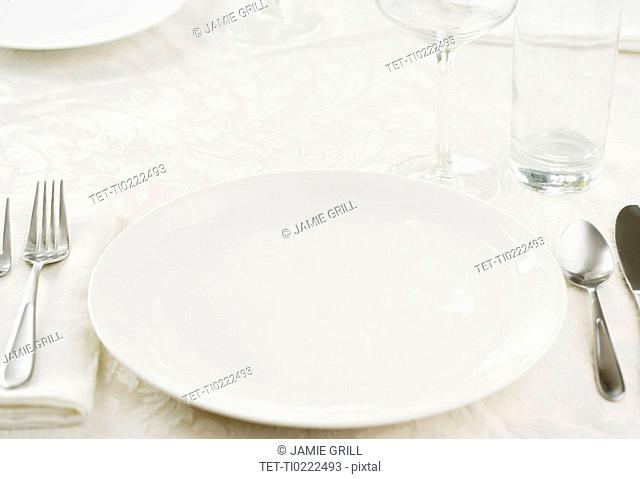 Closeup of a table setting