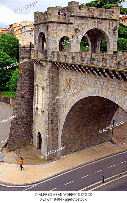 Portal Nuevo of the wall of the Ciudadela, Pamplona, Navarra, Spain