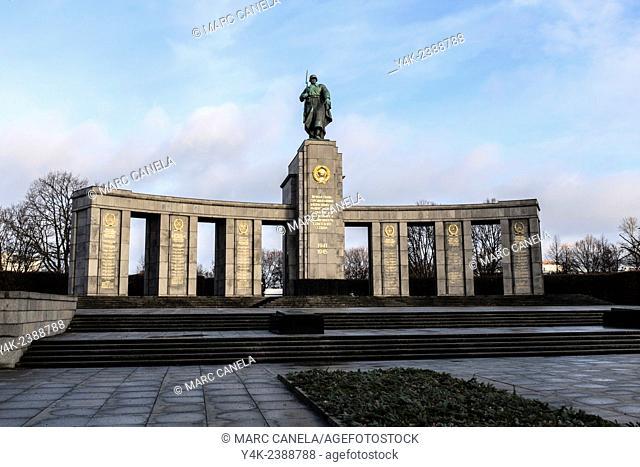 Europe, Germany, Berlin, The Soviet War Memorial is a vast war memorial and military cemetery in Berlin's Treptower Park