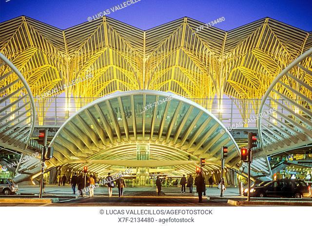 Oriente railway station by Santiago Calatrava, Lisbon, Portugal