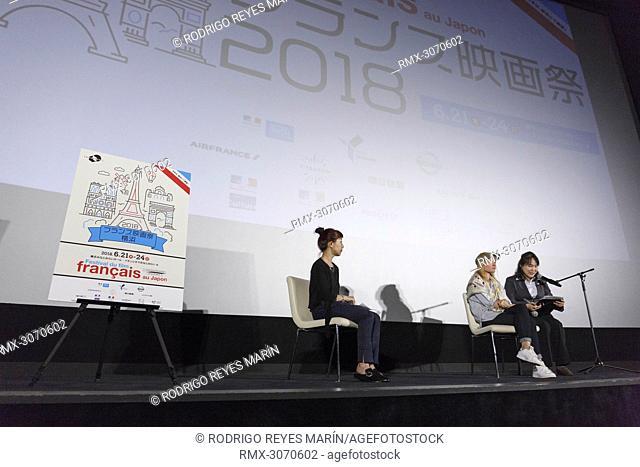 June 23, 2018 - Yokohama, Japan - French actress Melanie Thierry attends a talk show for the film 'Memoir Of Pain' during the Festival du Film Francais au Japon...