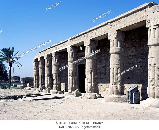 View of the Mortuary Temple of Seti I dedicated to Amon-Ra, Theban necropolis, Qurna, (Unesco World Heritage List, 1979)