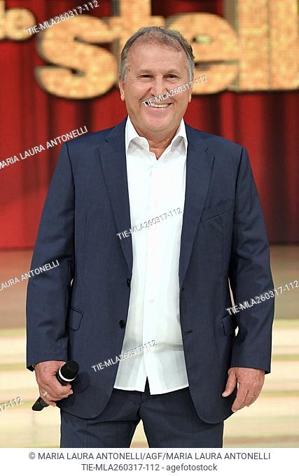 The former football player Arthur Antunes Coimbra ' Zico ' during the tv show Ballando con le stelle, Rome, 25-03-2017