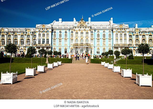 Russia, Saint Petersburg, Pushkin. Catherine Palace at Pushkin in Saint Petersburg