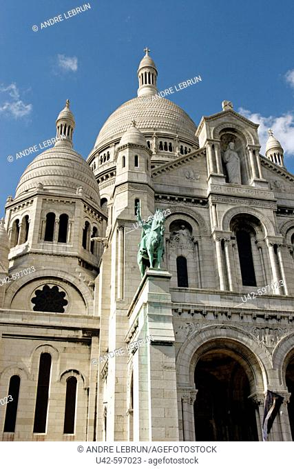 Basilique Du Sacre Coeur in Montmartre is one of the most recognizable landmarks on the skyline of Paris. Construction began in 1873 and the basilica...