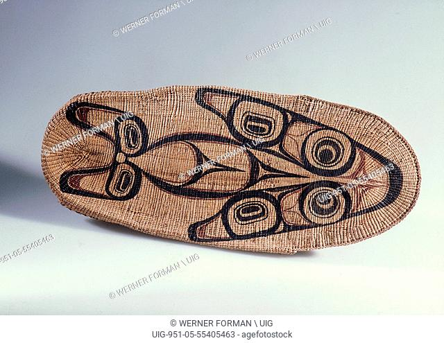 Cradle woven by Mrs Edenshaw, wife of the most famous Haida carver, Charles Edenshaw
