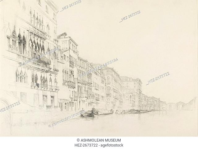 View from the Palazzo Bembo to the Palazzo Grimani, Venice, May - June 1870. Artist: John Ruskin