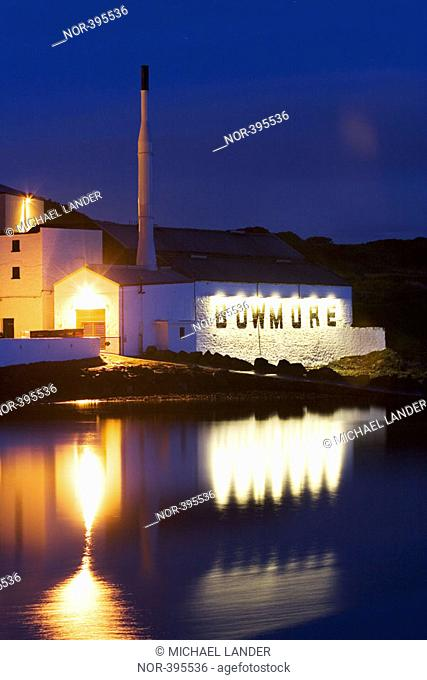 Bowmore whiskey production facilities, Islay, Loch Indaal, Scotland