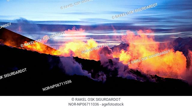 Volcanic eruption in South Iceland, image shot 29. Mars 2010