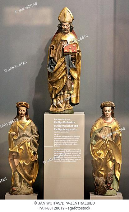 Carvings by Peter Breuers from 1512 on display in the Max Pechstein Museum as part of a special exhibition entitled 'Renewal and Obstinacy' to mark the...