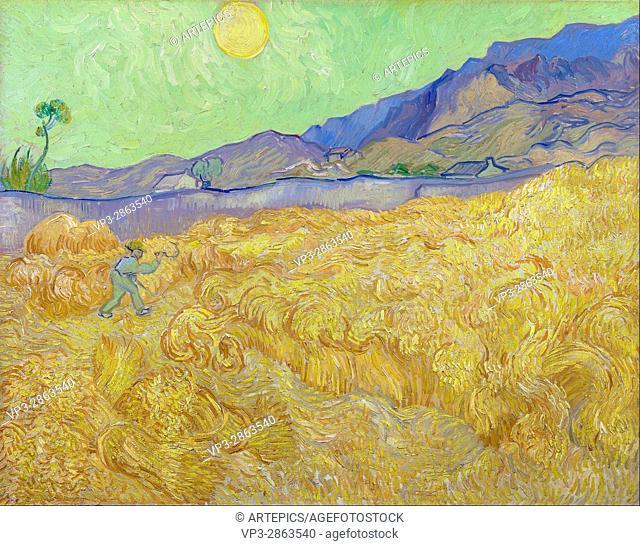 Vincent van Gogh - Wheatfield with a reaper - Van Gogh Museum, Amsterdam
