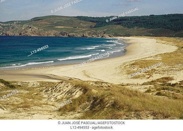 Rostro beach, Costa da Morte. La Coruña province, Galicia, Spain