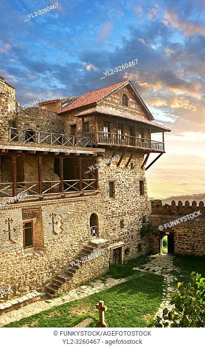 Picture & image of David Gareja Georgian Orthodox monastery, Mount Gareja, Kakheti Region, Georgia (country). 25 km (15 miles) from Gardabani