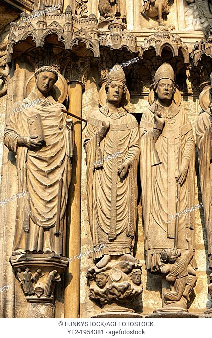 .South Porch, Right Portal, Left Jambs c. 1194-1230, Cathedral of Notre Dame, Chartres, France. From left to right they are