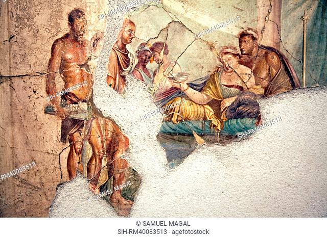 Italy, Naples, Naples Museum, from Pompeii, House of Giuseppe II VIII 2,39, Sofonisba's Death