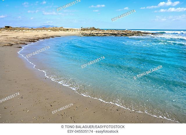 Prat Cabanes Torreblanca Beach Natural Park in Castellon of Spain