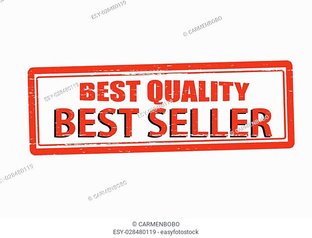 Rubber stamp with text best quality inside, vector illustration