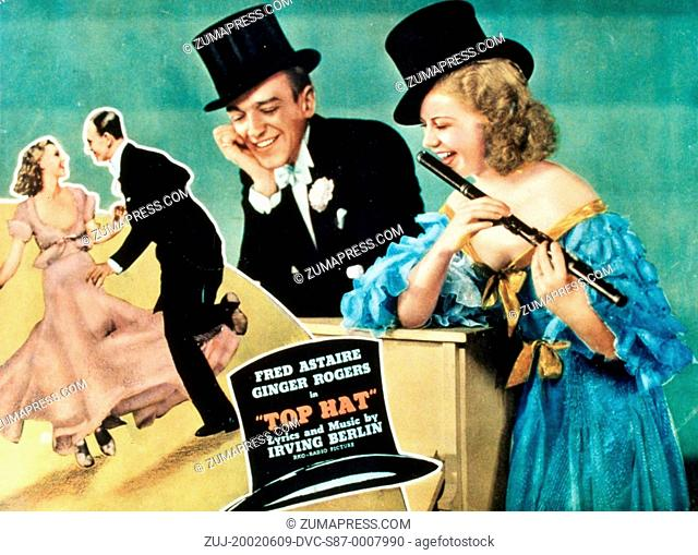1935, Film Title: TOP HAT, Director: MARK SANDRICH, Studio: RKO, Pictured: FRED ASTAIRE, HAT, GINGER ROGERS, MARK SANDRICH