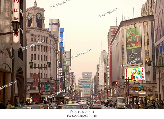 Scenery of Ginza Tokyo
