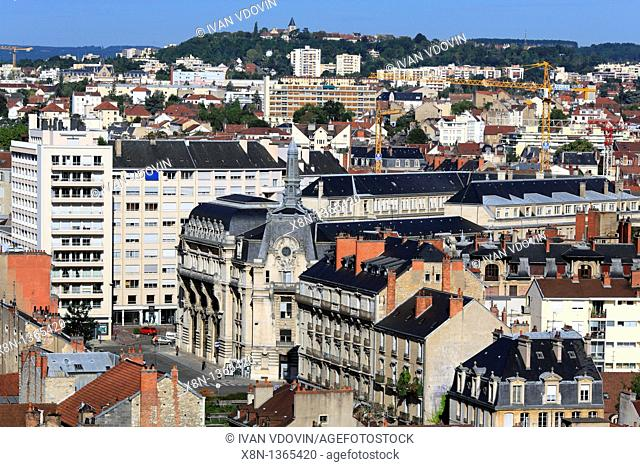 View of city from Philippe le Bon Tower, Dijon, Côte-d'Or departement, Burgundy, France