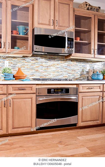 Gas stove and appliances in domestic kitchen