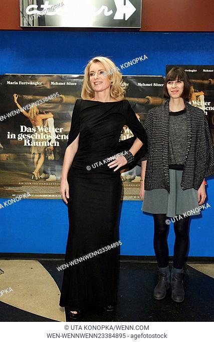 Celebrities at the premiere of the movie Das Wetter in geschlossenen Raeumen Featuring: Maria Furtwängler, Maelle Giovanetti Where: Düsseldorf