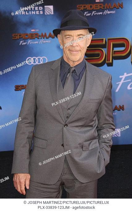 """J. K. Simmons at Columbia Pictures' and Marvel Studios' """"""""Spider-Man Far From Home"""""""" World Premiere held at the TCL Chinese Theatre in Hollywood, CA, June 26"""