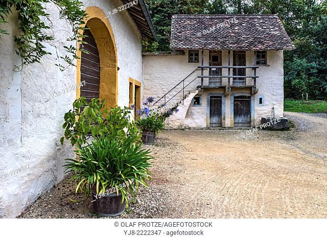 Tessin Farm house at the Open Air Museum Ballenberg, Berner Oberland, Switzerland