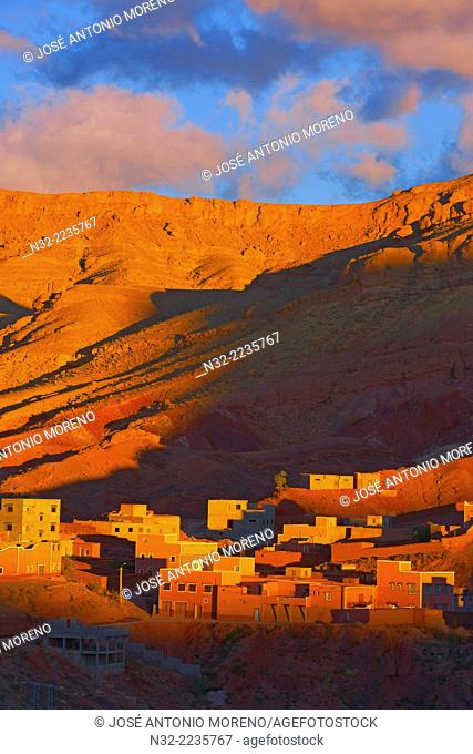 Dades Gorges at Dawn, Dades Valley, Dades Gorges, High Atlas, Morocco