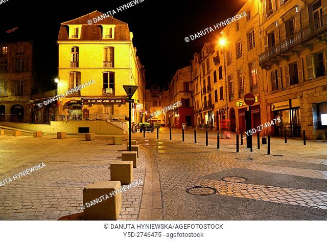 Avenue Daumesnil, in background touristic shopping street - Rue de la Clarté, old town of Périgueux, World Heritage Sites of the Routes of Santiago de...