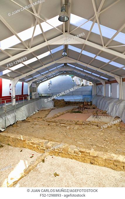 Archaeological site of the Roman city of Flaviobriga, Castro Urdiales, Cantabria, Spain