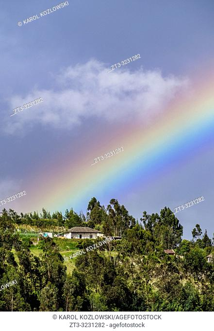 Rainbow over the Mountains, Las Lajas, Narino Departmant, Colombia