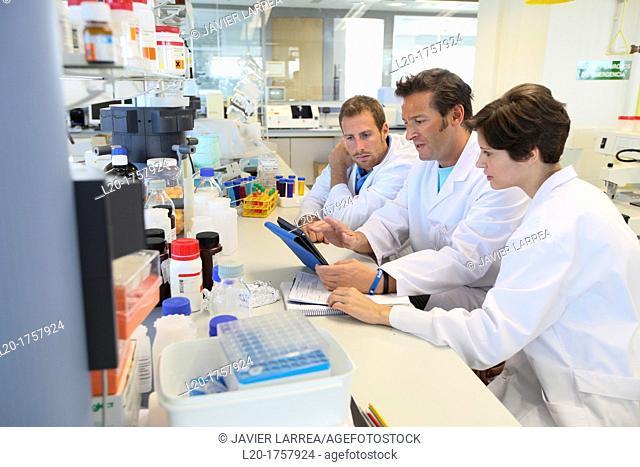 Researchers, Biological test laboratory, Tecnalia Foundation, Technology and Research Centre, San Sebastian Technological Park, Donostia, Gipuzkoa