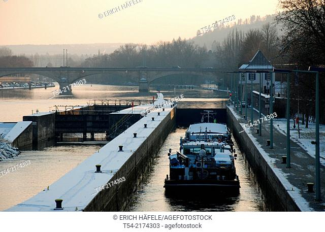 The Main lock in Würzburg