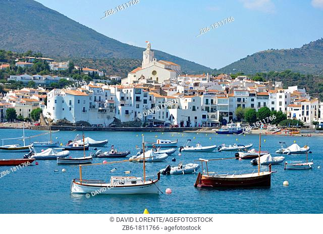 View of the seaside town of Cadaques Catalunya
