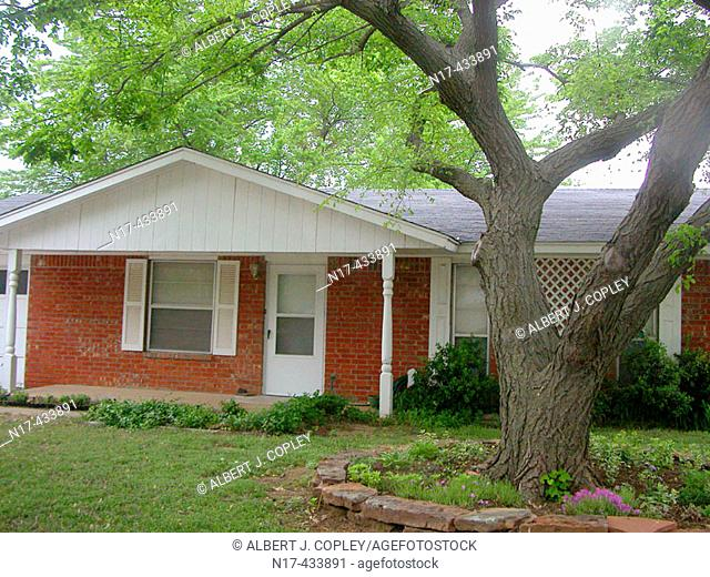 Small brick house. Oklahoma, USA