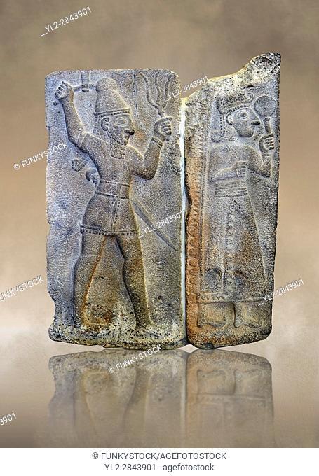 10th - 8th century BC stone Neo-Hittite/ Aramaean Orthostats from the city of Sam'al (Hittite: Yadiya) near Zincirli Höyük in the Anti-Taurus Mountains of...