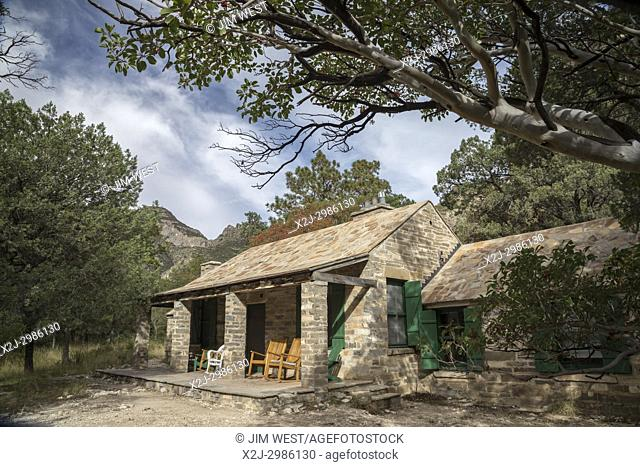 Guadalupe Mountains National Park, Texas - The Pratt Cabin in McKittrick Canyon. Geologist Wallace Pratt bought much of the land in McKittrick Canyon and built...