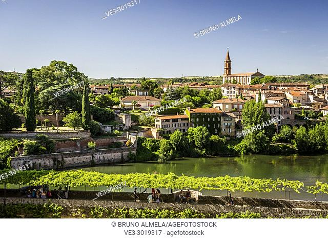 View of Madeleine's Church and Tarn river from Berbie Palace, Albi (Midi-Pyrénées, France)