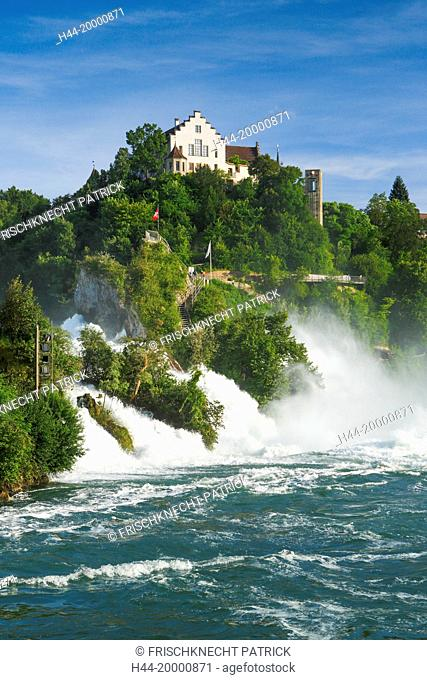The Rhine Falls with the Laufen castle, Switzerland
