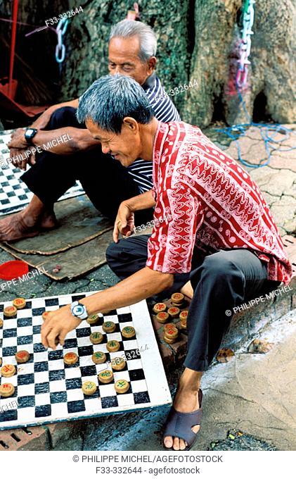 Malaysia - Malacca - chessboard players