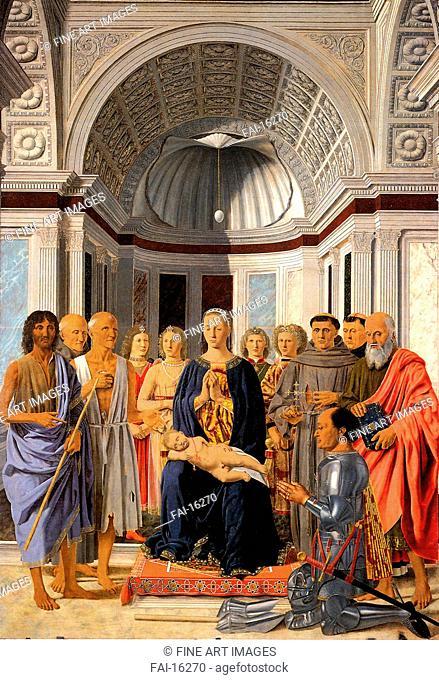 The Brera Madonna (Pala di Brera). Piero della Francesca (ca 1415-1492). Oil on wood. Renaissance. ca 1471-1472. Pinacoteca di Brera, Milan. 248x170